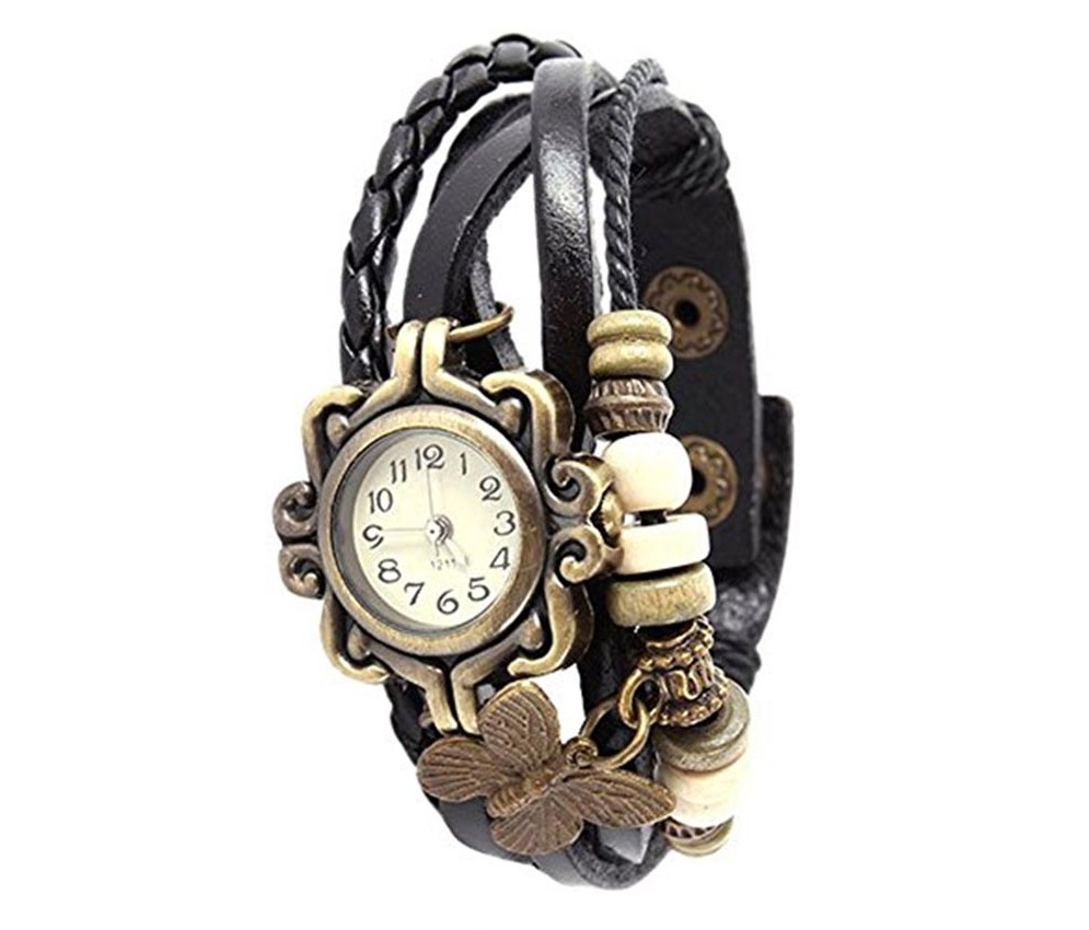 Combo of Black Vintage Watch And Black Led Watch a