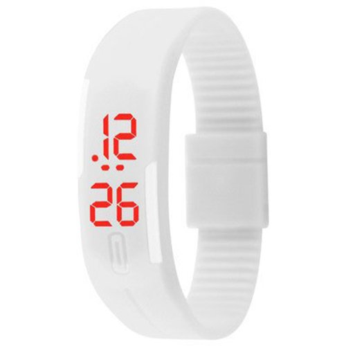 Danzen Digital White LED Sports Unisex Watch-495 by h