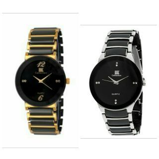Analog Watch COMBO IIK Round Shaped For Men(Silver+Golden)