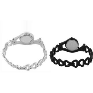 BLACK SILVER CHAIN COMBO BEST GIFT EVER Analog Watch - For Girls, Women