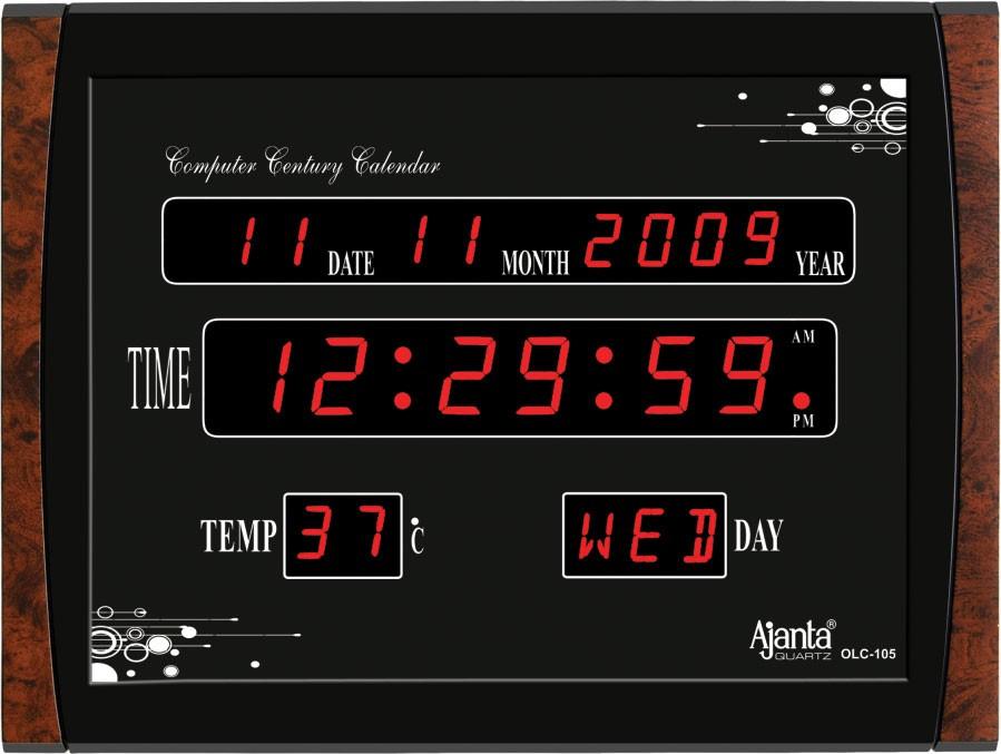Ajanta Led Digital Wall Clock Olc 105