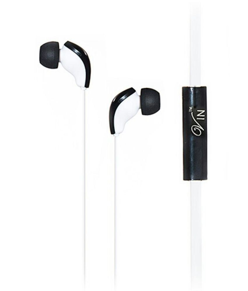 Vin Hip-Pop 888 In Ear Wired Earphones With Mic White HP-888