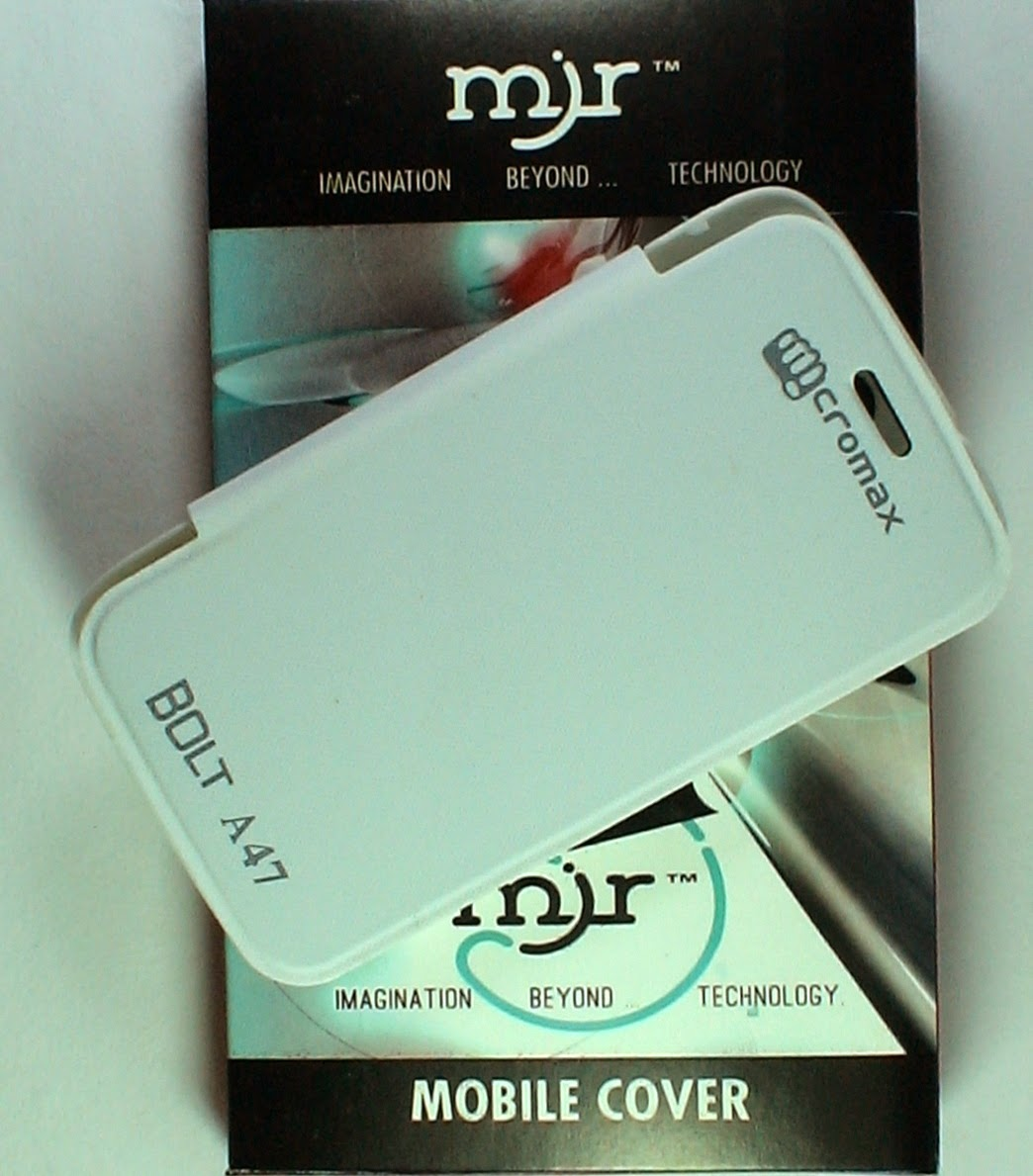 MJR Flip Cover For Micromax Bolt A47 White available at ShopClues for Rs.200