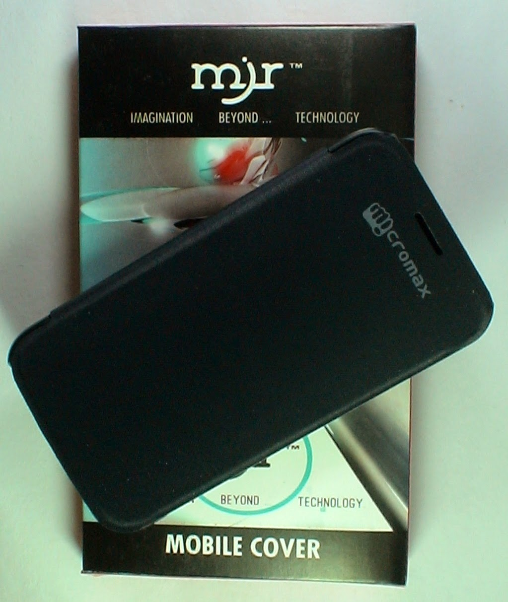MJR Flip Cover For Micromax Canvas Hd A116 Black available at ShopClues for Rs.175
