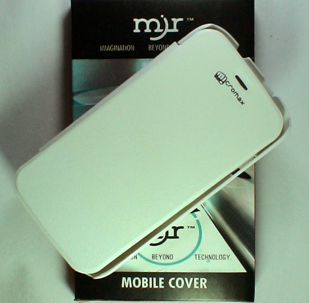 MJR Flip Cover For Micromax Canvas Hd A116 White available at ShopClues for Rs.185