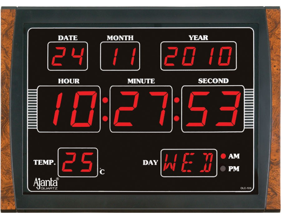 ajanta led digital wall clock olc 109