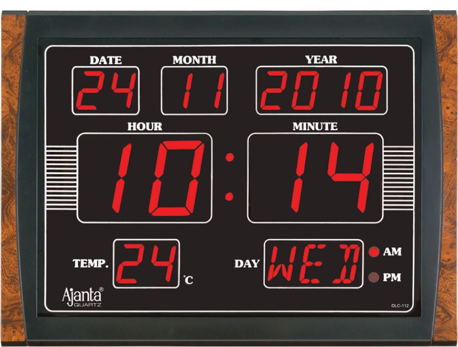 Ajanta led digital wall clock olc 112 Digital led wall clock