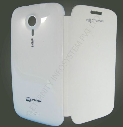 Micromax A116 Canvas HD White Flip Cover available at ShopClues for Rs.149