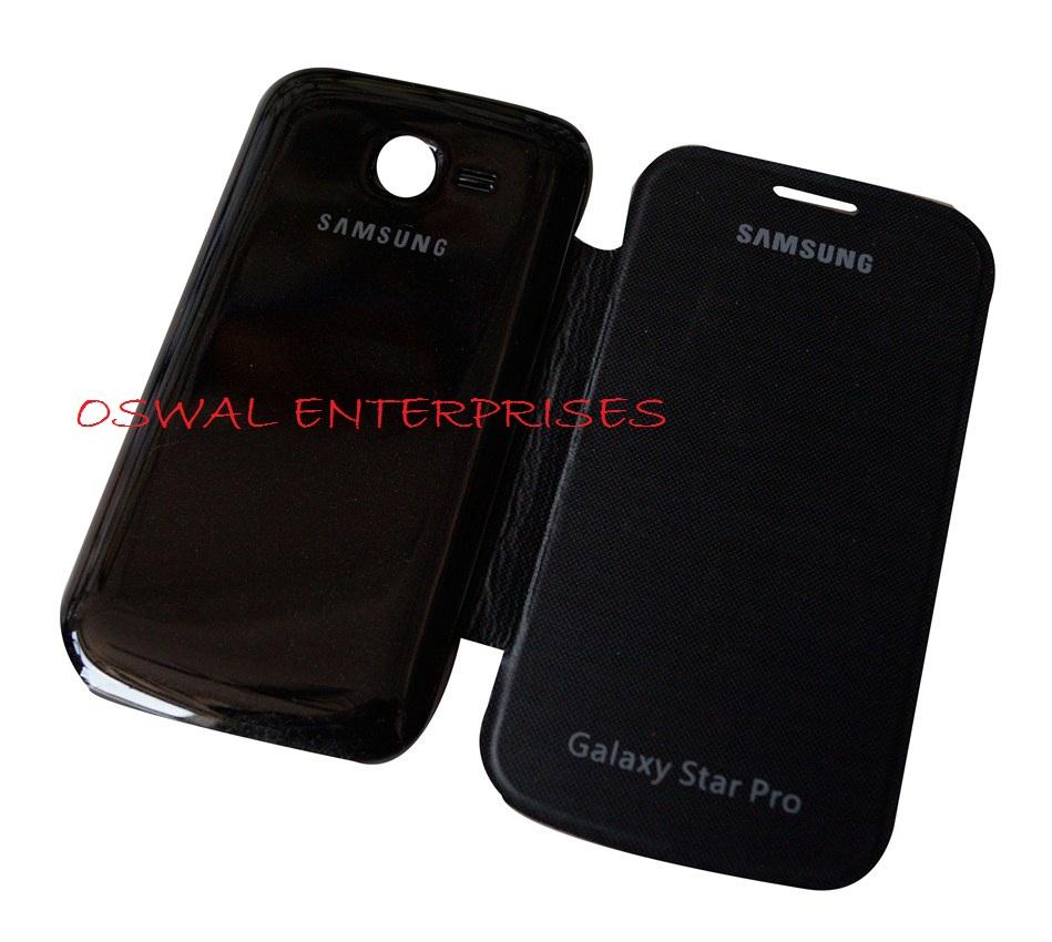 Samsung Galaxy Star Pro 7262 Black Flip flap diary stylish ... Galaxy Star Pro Cover