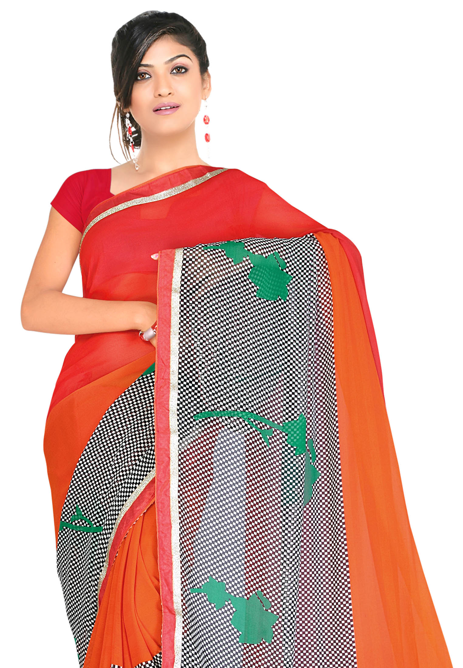 Fabdeal Casual Wear Black Colored Khadi Silk Saree