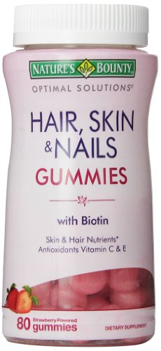 Nature'S Bounty Optimal Solutions Hair, Skin And Nails Gummies, 80 Count (Pack