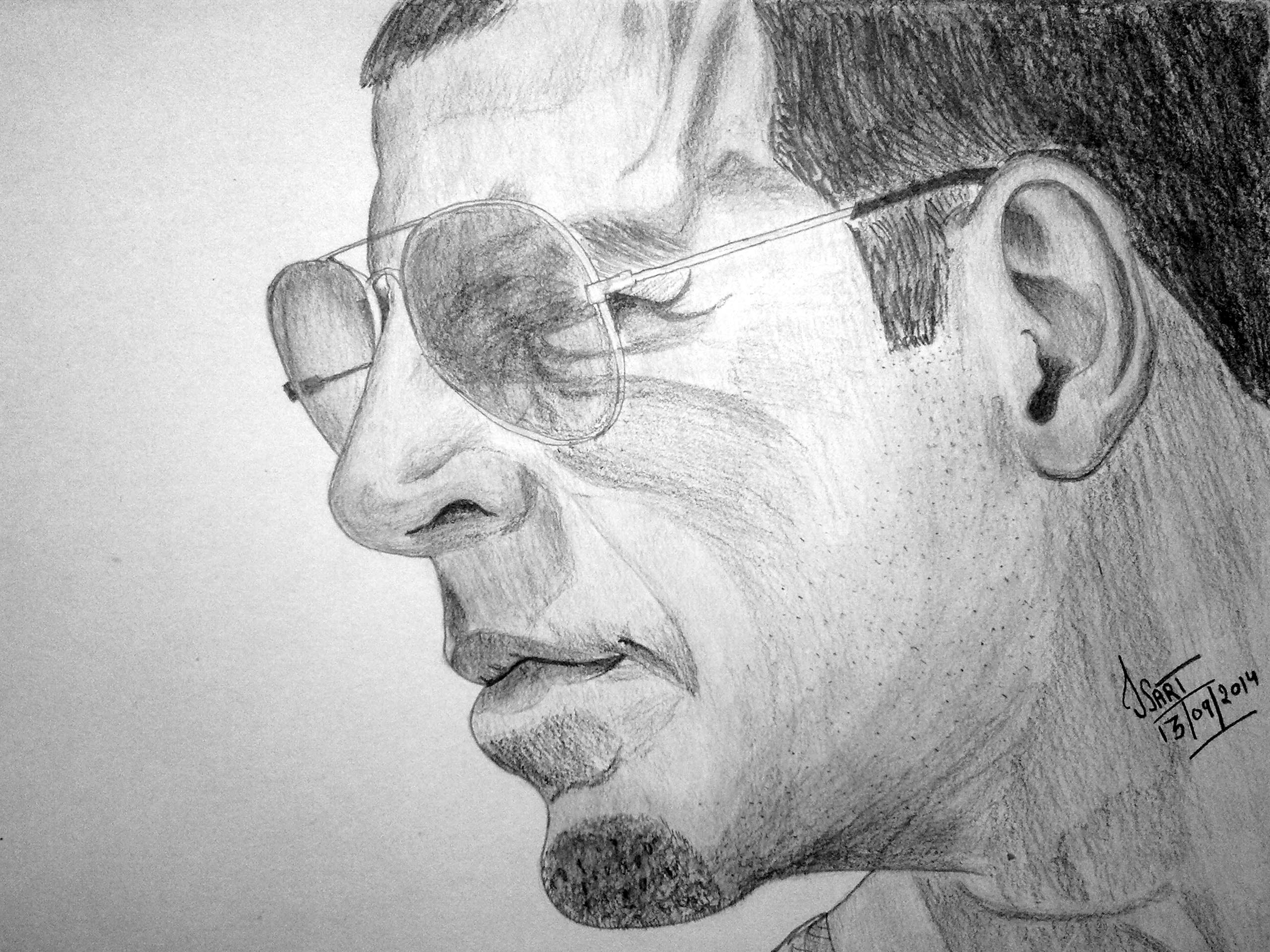 Buy Akshay Kumar S Pencil Sketch Online Shopclues Com