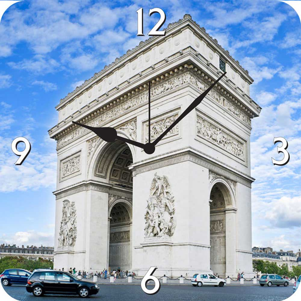 Furnishfantasy arc de triomphe wall clock wlc0592 at best for Arc de triomphe wall mural