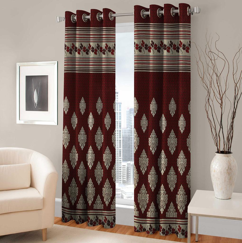 BSB Trendz  Panle Print Set Of 2 Door Curtain