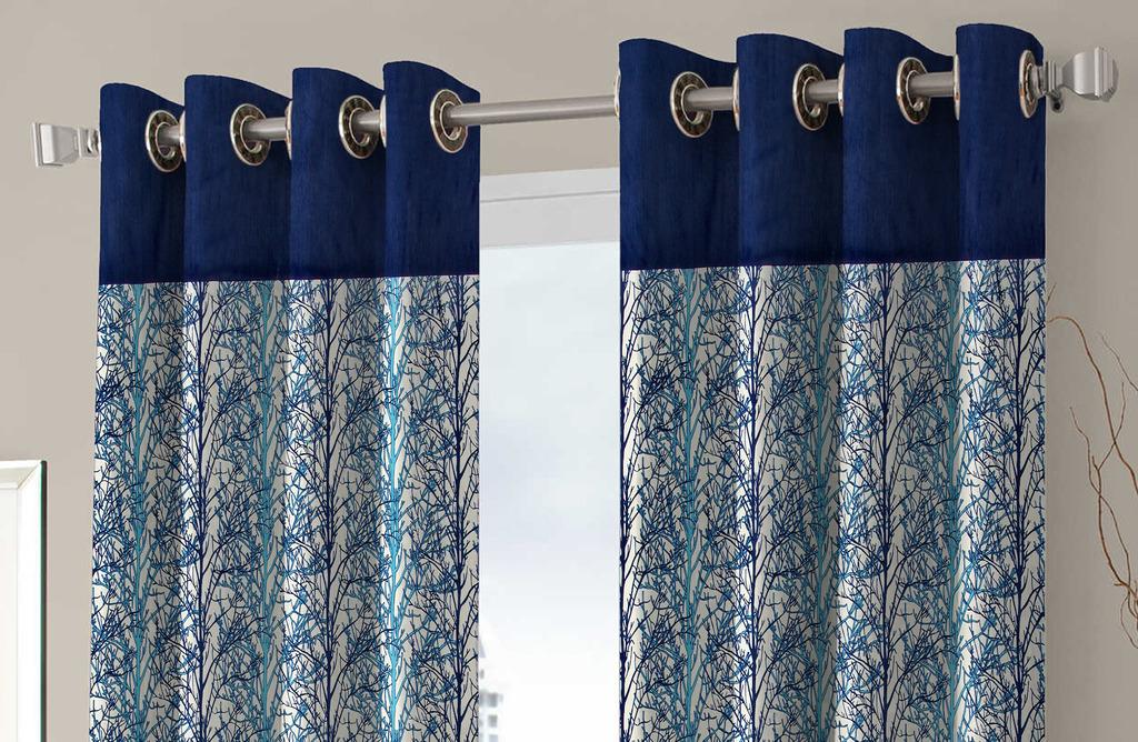 BSB Trendz  Panle Print Set Of 3 Door Curtain