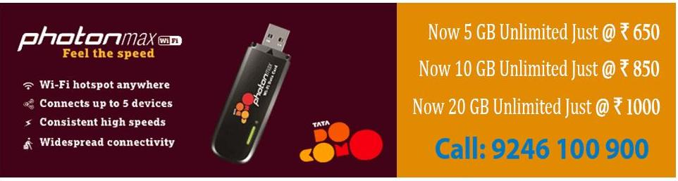 Tata photon max wifi available at ShopClues for Rs.1999