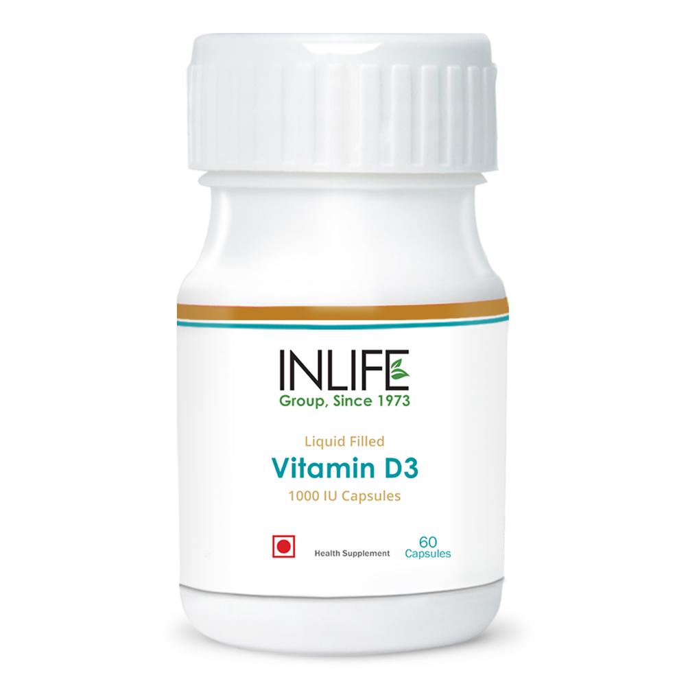INLIFE Vitamin D3 1000 IU (60 Capsules)