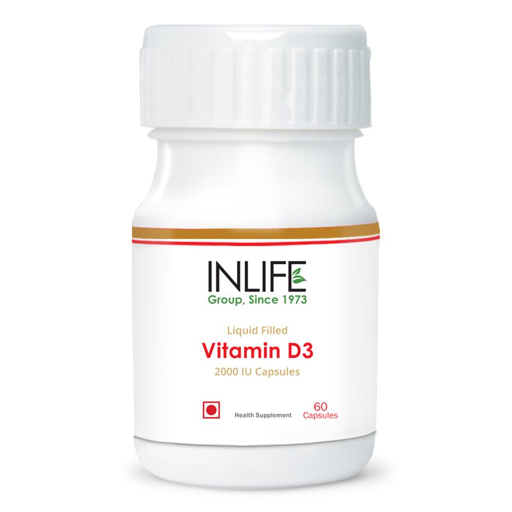 INLIFE Vitamin D3 2000 IU - (60 Capsules)