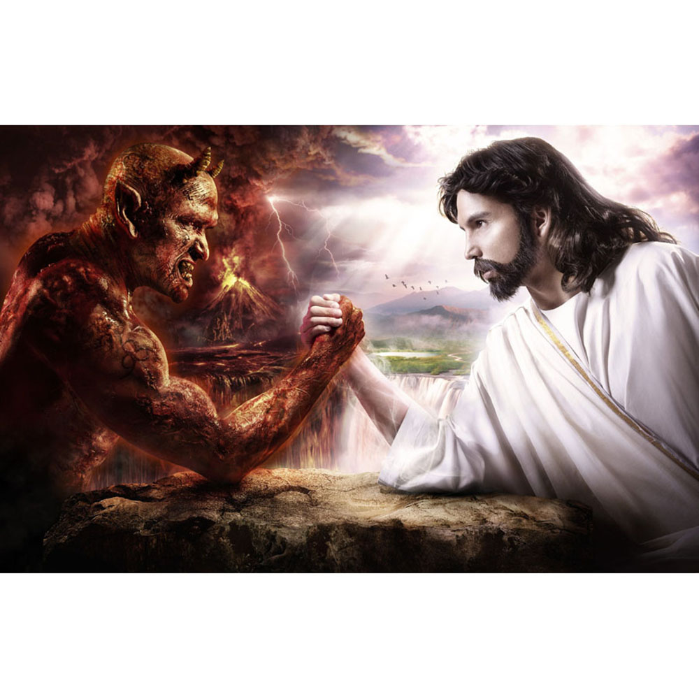 Satan Vs God Wallpaper Devil vs god v satan