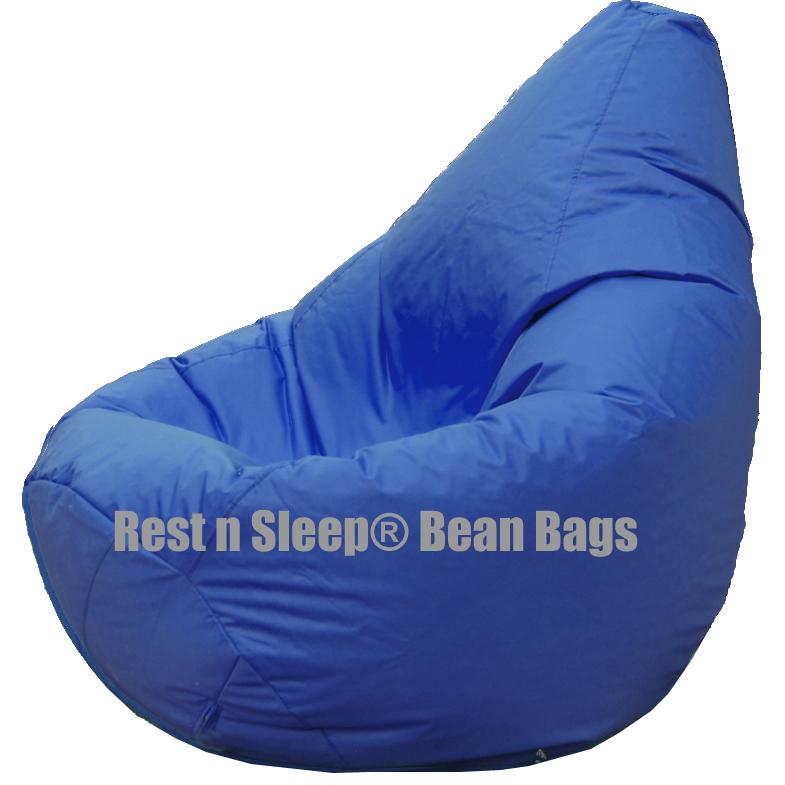 Rest N Sleep - Bean Bags  Chair with Beans - Pear Shape - Royal Blue ...