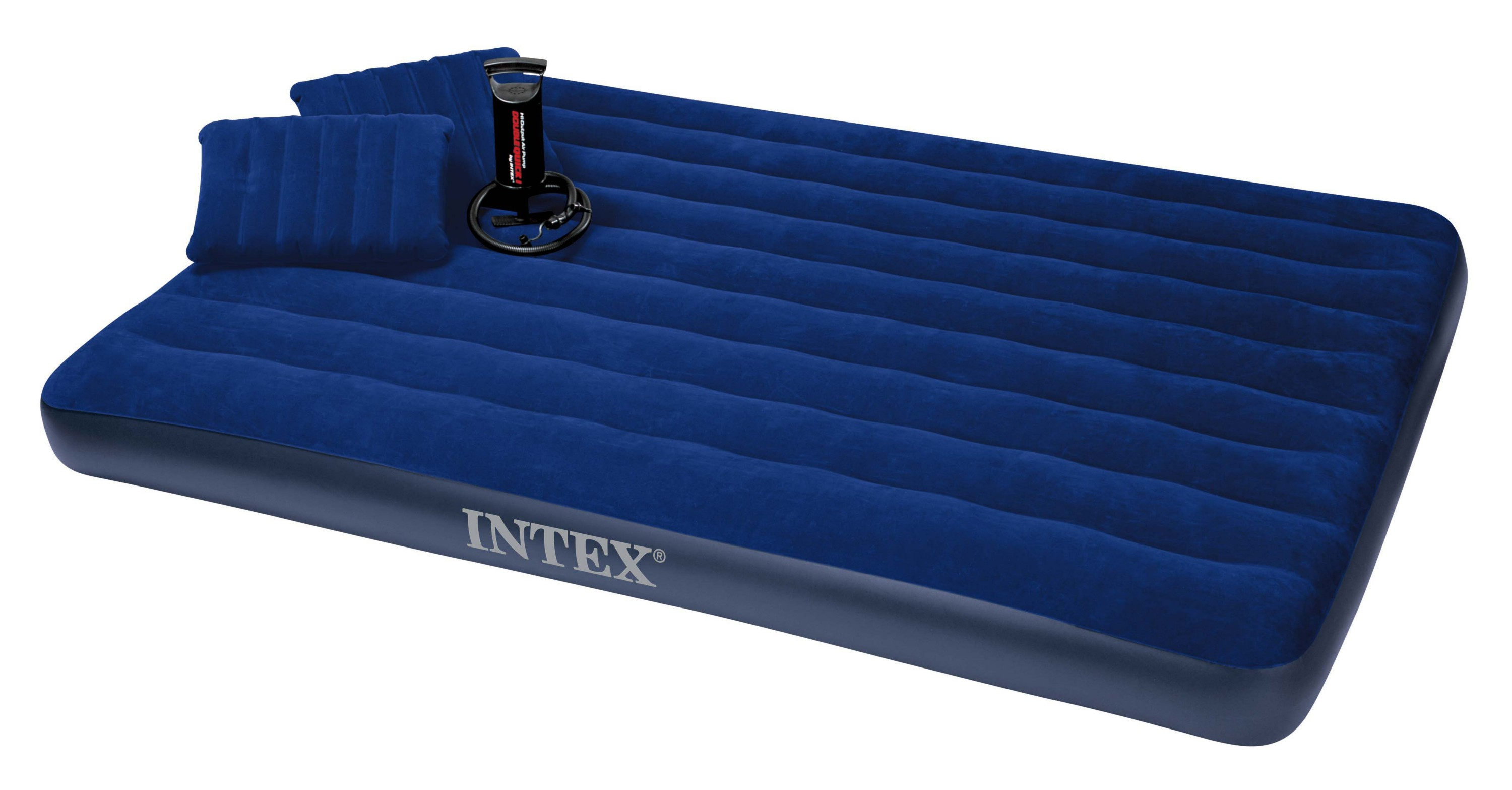 INTEX INFLATABLE CLASSIC QUEEN SIZE DOUBLE AIR BED WITH ...