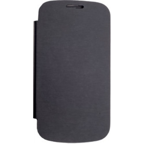 Micromax Canvas HD A116  Flip Cover Black available at ShopClues for Rs.195