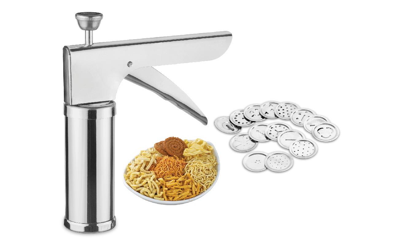 Maruti Brand Stainless Steel Kitchen Press Muruku Cooki Press With Icing Set
