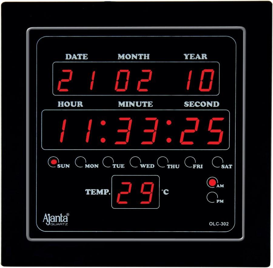 ajanta led digital wall clock olc 302