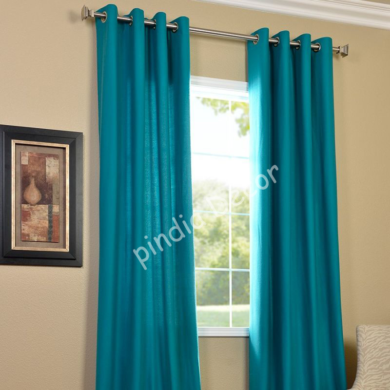 Home Kitchen Furnishing Curtains And Accessories Curtains 7 Ft Aqua Turquoise Faux