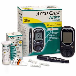 Accu Chek Active Blood Glucose Sugar Monitor Bill 25 Strips Accu Chek Meter