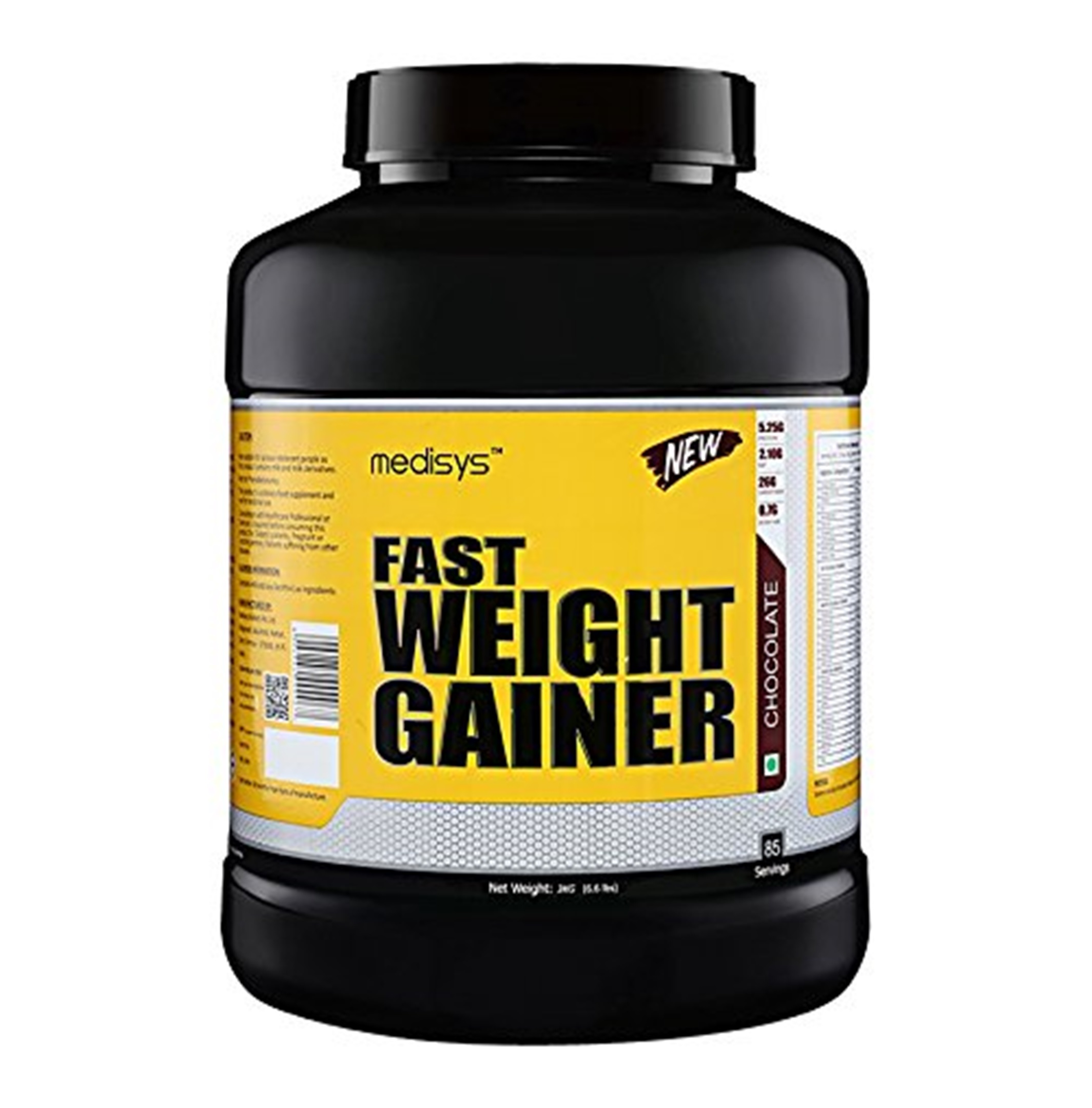 Medisys Fast Weight Gainer, Chocolate, 3Kg