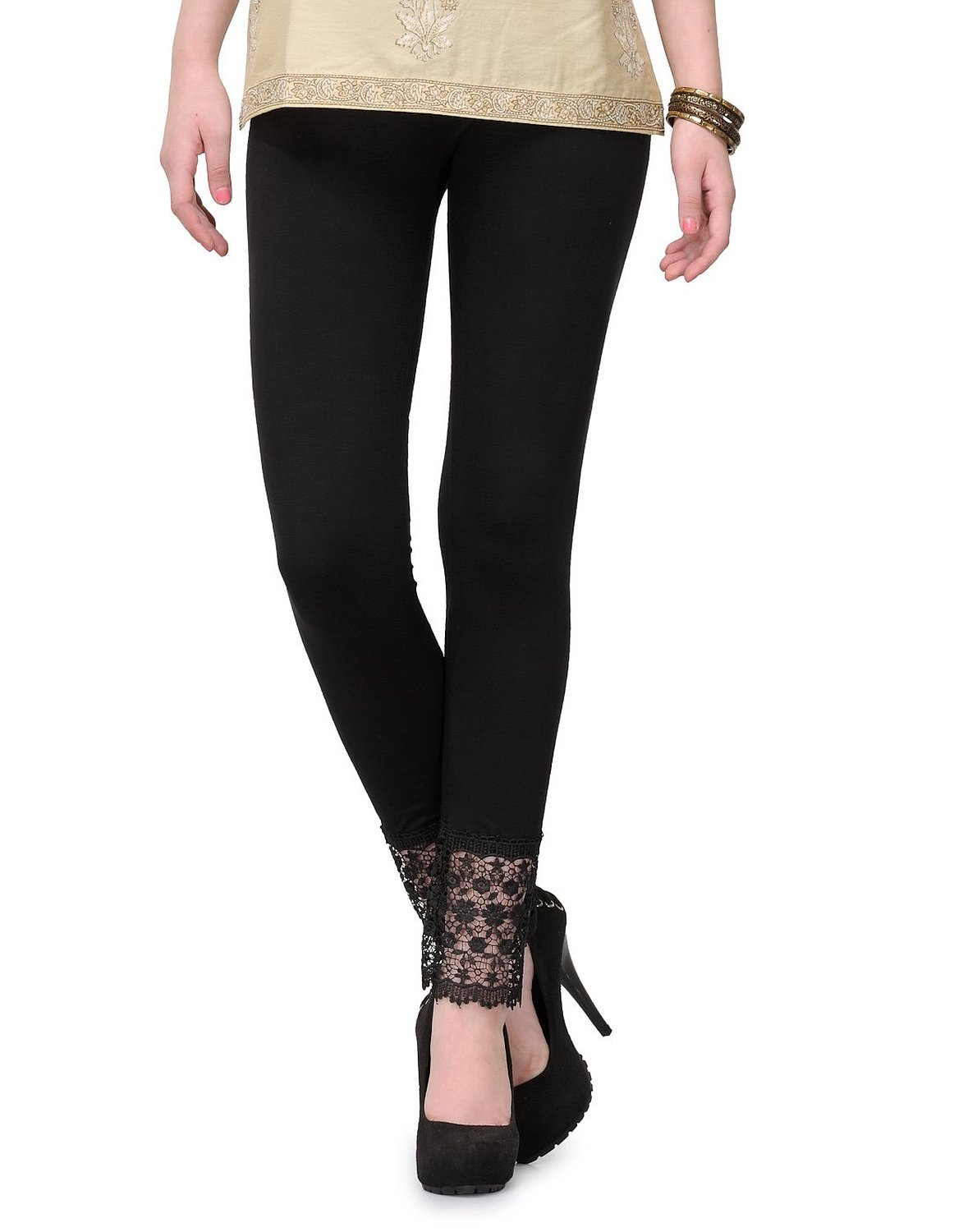 Similiar Leggings With Lace At Bottom Keywords