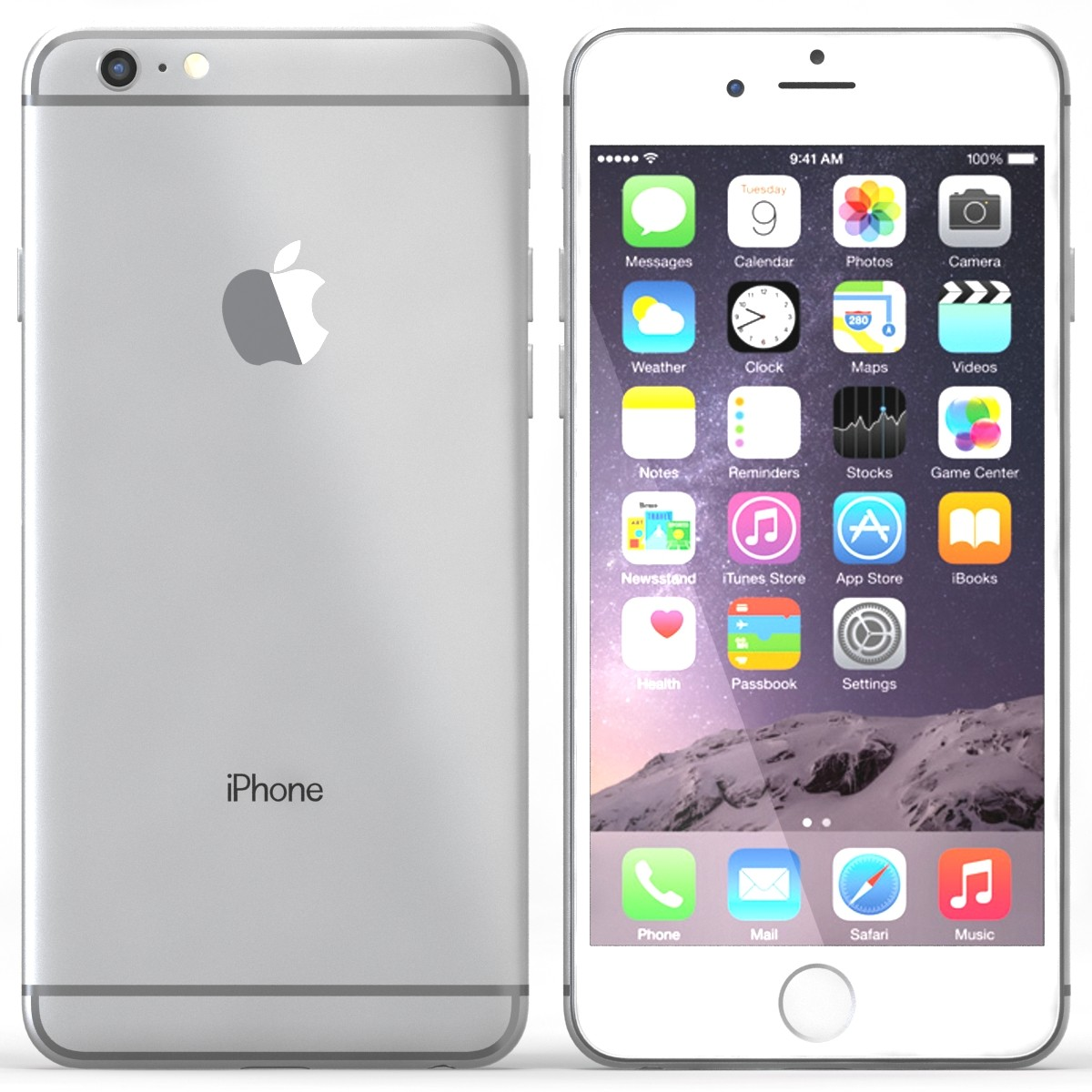 online apple iphone 6 plus 16 gb silver prices shopclues. Black Bedroom Furniture Sets. Home Design Ideas