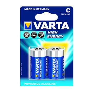 VARTA High Energy 2 C Size Alkaline Batteries ( Pack Of 5 Pcs. ) - 5978812