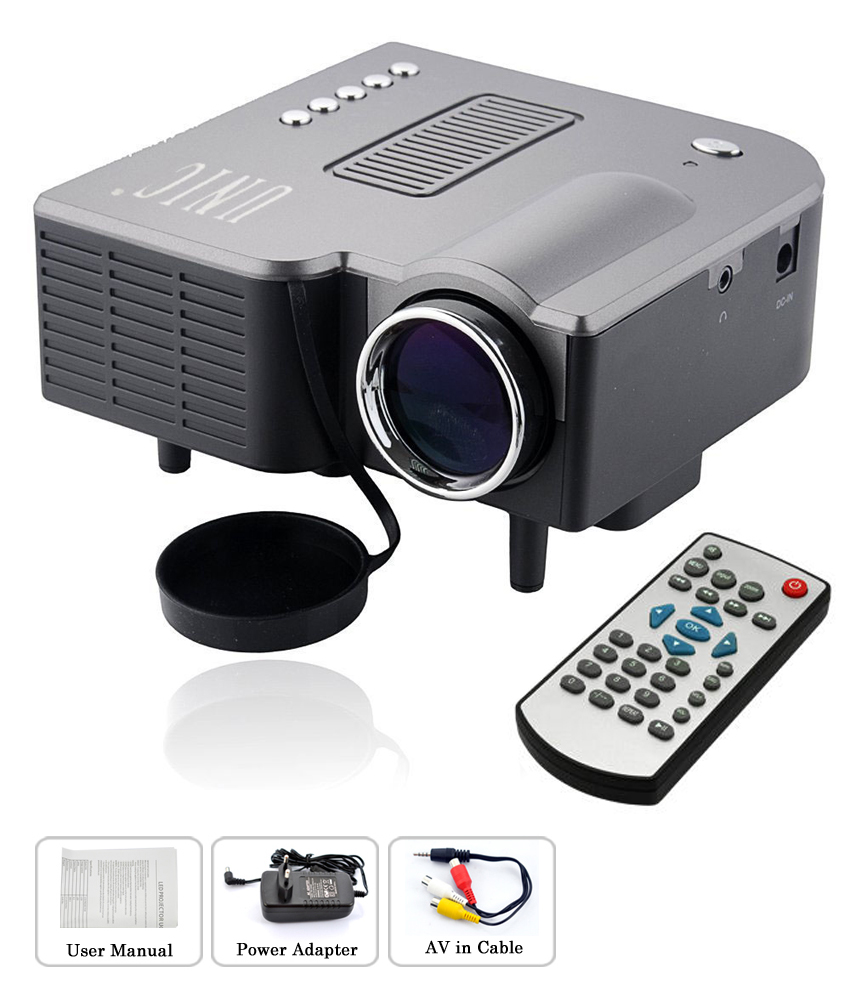 Buy unic uc 28 mini led cinema projector black online for Best small led projector