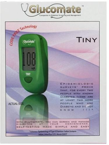 Operon Glucomate TINY Blood Glucose Monitor Glucometer Smallest Sugar Monitor