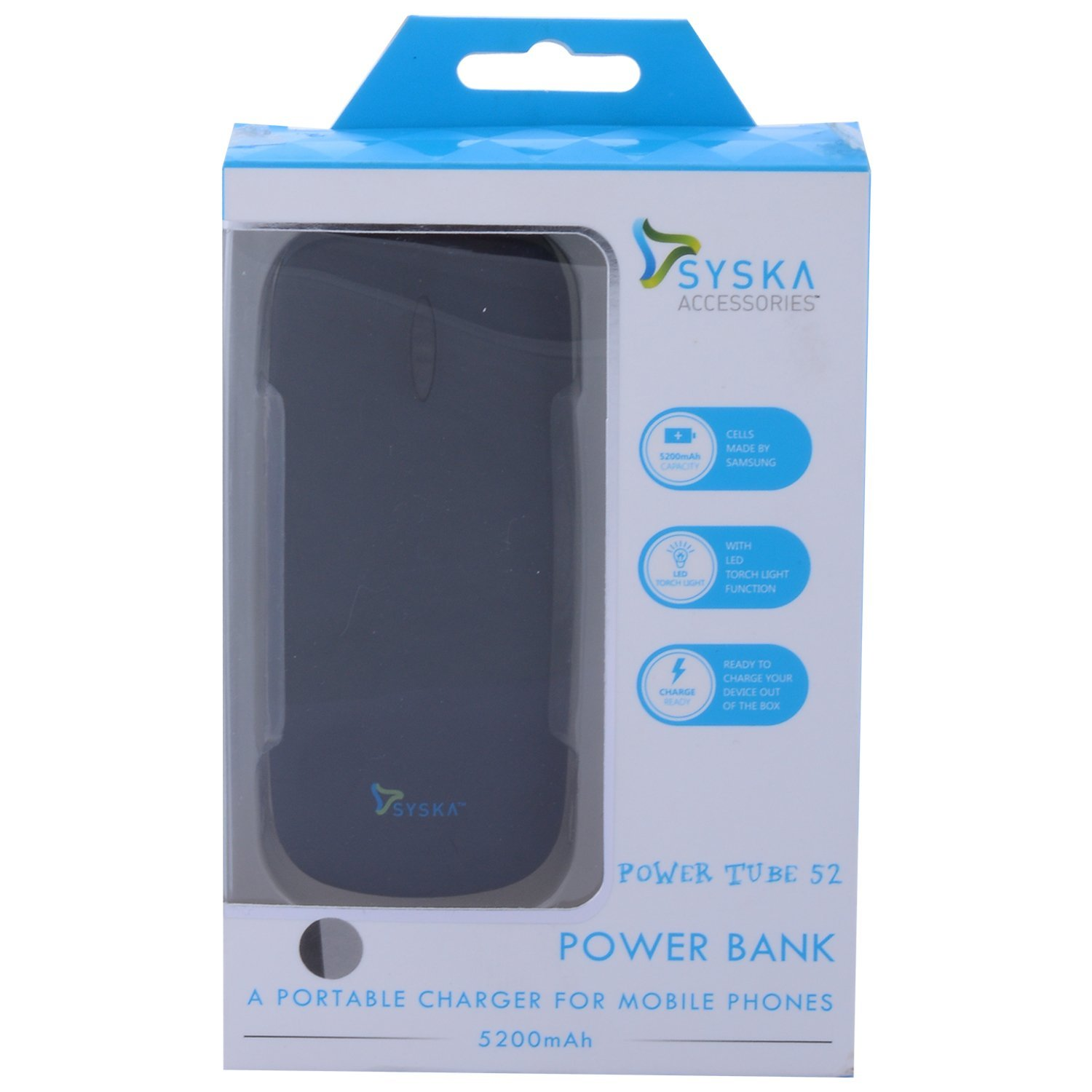 Syska Power Tube 52 Power Bank  WOT0045  available at ShopClues for Rs.1540
