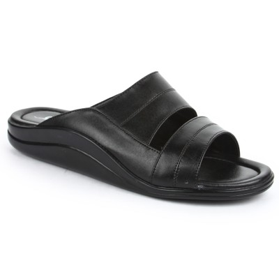 Coolers Mens In Fashion Black Formal Slippers