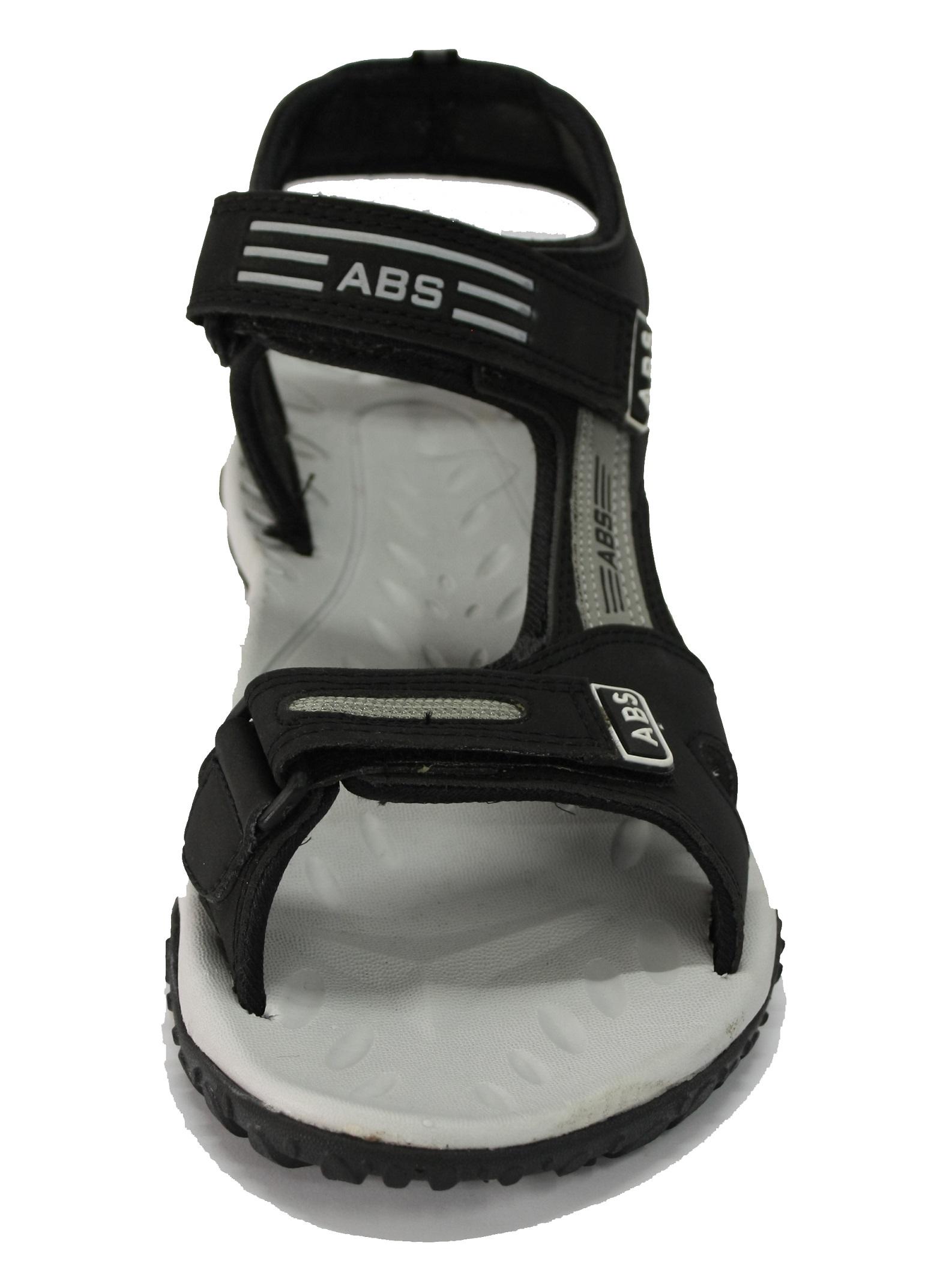 ABS Men's Grey & Black Classy Sandals