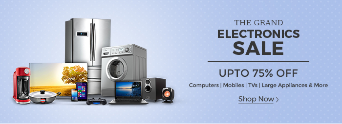Shopclues: The Grand Electronics Sale – Upto 75% Off on Electronics