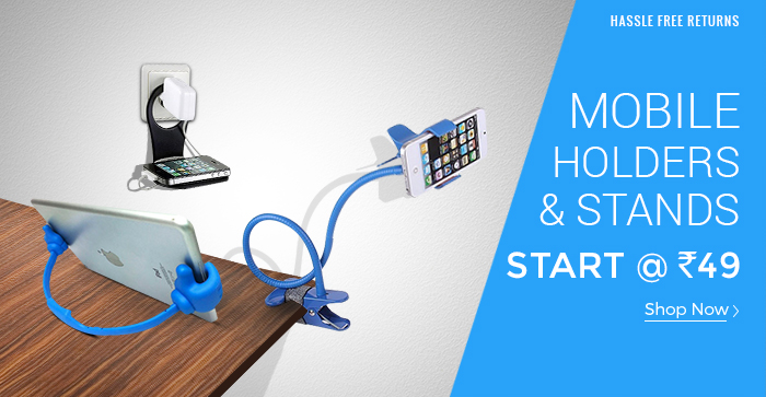 Shopclues: Mobile Holders & Stands Start @ Rs. 49/-