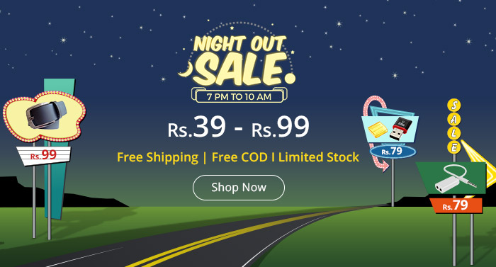 ShopClues: Night Out Sale – Deals from Rs.39- Rs.99 | Free Shipping & COD