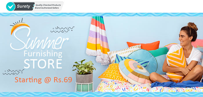 Shopclues: Summer Furnishing Store Starting @ Rs.69/-