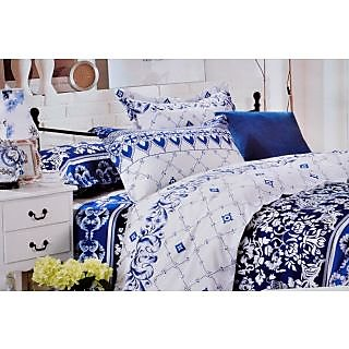 Valtellina Elegant Traditional Print Double Bed Sheet (DY-014)