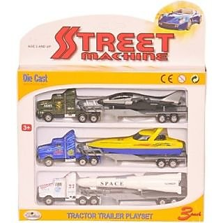 Die Cast Truck Trailler Playset with Plastic Parts for kids