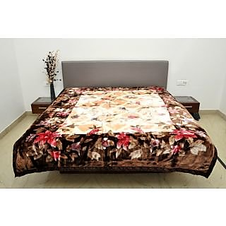 Valtellina Good-Looking Floral Mink Double Bed Blanket  (GK-002)