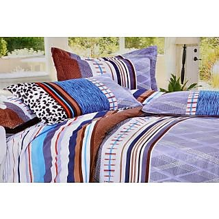 Valtellina Dazzling Abstract Print Single Bed Sheet (DYS-020)