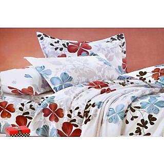 Valtellina Heart Shape Floral Print Single Bed Sheet (DYS-027)