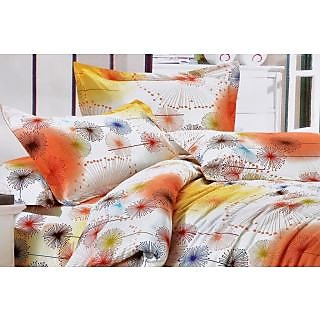 Valtellina Delightful Sparking Circle Print Single Bed Sheet (DYS-031)