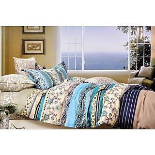 Valtellina Symmetrical Designer Print Double Bed Sheet (MY-016)